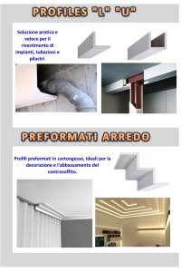 PROFILES L-U E PREFORMATI IN CARTONGESSO